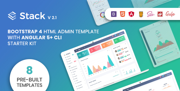 Stack - Bootstrap 4 Admin Template & Angular 5+ CLI Starter Kit - Admin Templates Site Templates