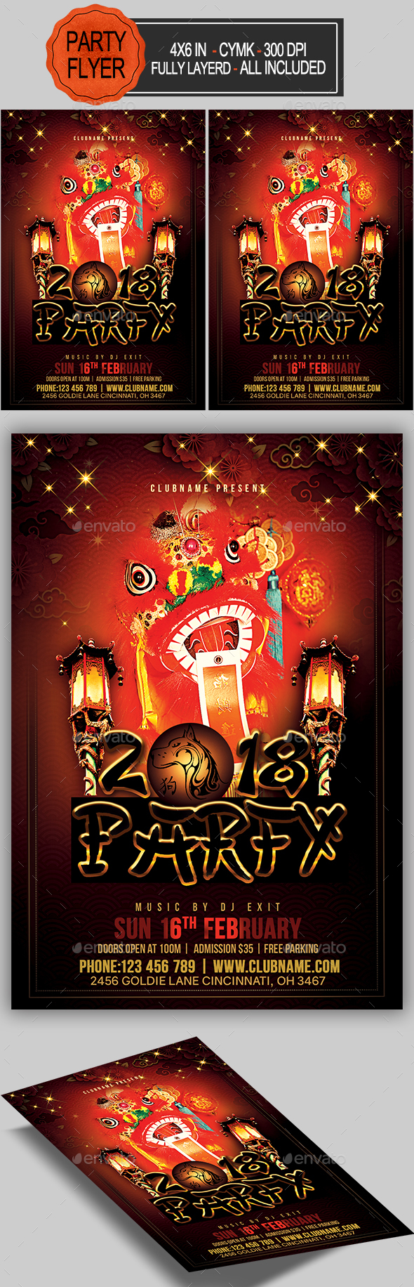 GraphicRiver Chinese New Year Party Flyer 21194463