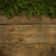 Christmas tree branches on wooden texture - PhotoDune Item for Sale
