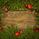Christmas border with fir tree branches, cones and christmas dec - PhotoDune Item for Sale