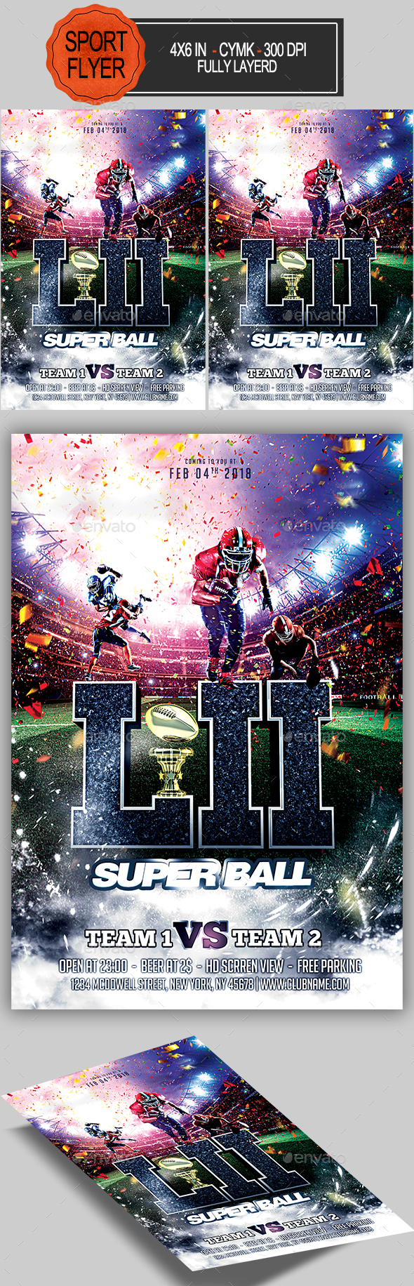GraphicRiver Football Super Ball Flyer 21194477