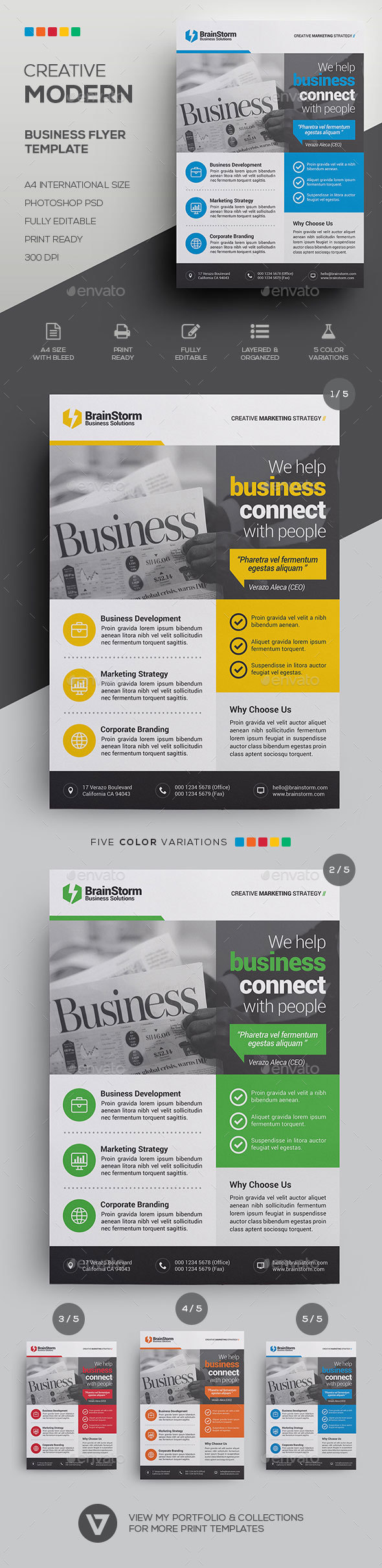 GraphicRiver Business Flyer Template 21194512