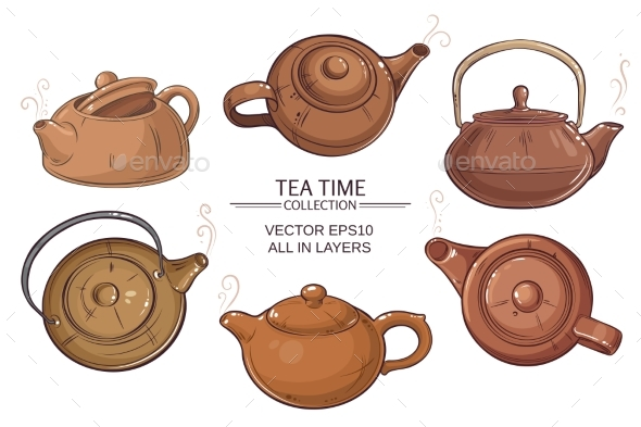 GraphicRiver Teapots Vector Set 21194550