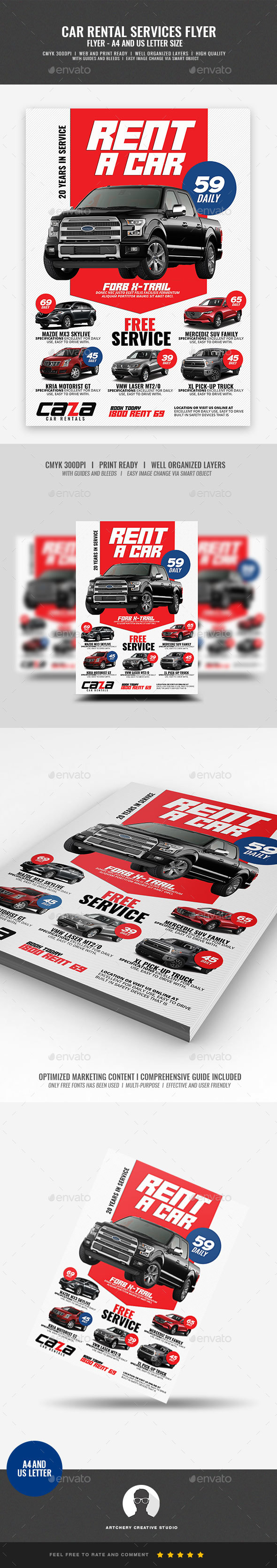 GraphicRiver Car Rental Company Flyer 21194570