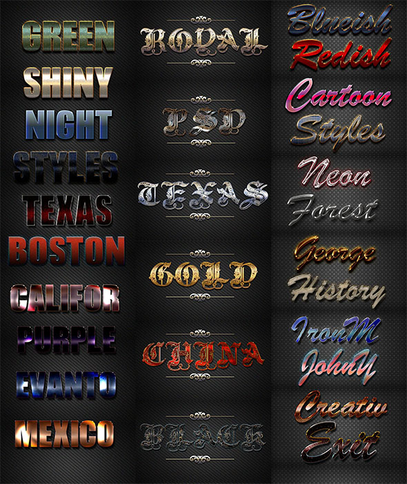 GraphicRiver 30 Bundle 3D Text Styles D44-D46 21194657