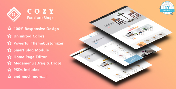 ThemeForest Cozy Furniture Responsive Prestashop 1.7 Theme 21194664