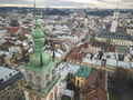 Aerial view of the historical center of Lviv. Shooting with dron - PhotoDune Item for Sale