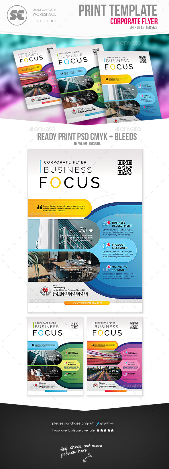 GraphicRiver Professional Corporate Flyer 21194747