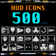 HUD Futuristic 500 Icons For UI Apps Logo Design