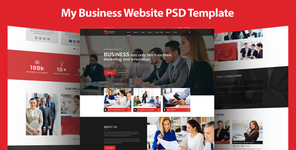 My Business - Multipurpose Business and Corporate Template - Business Corporate