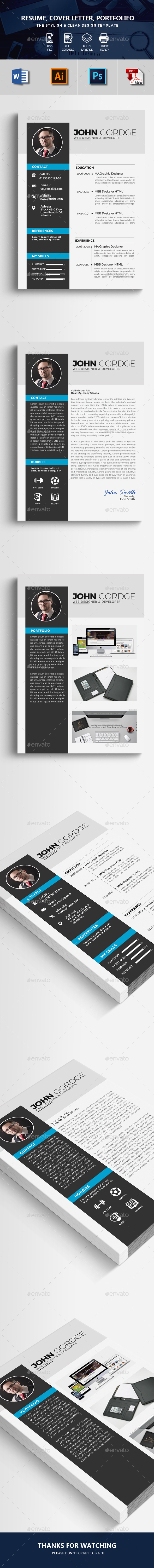 GraphicRiver Corporate Resume Design Template 21194912