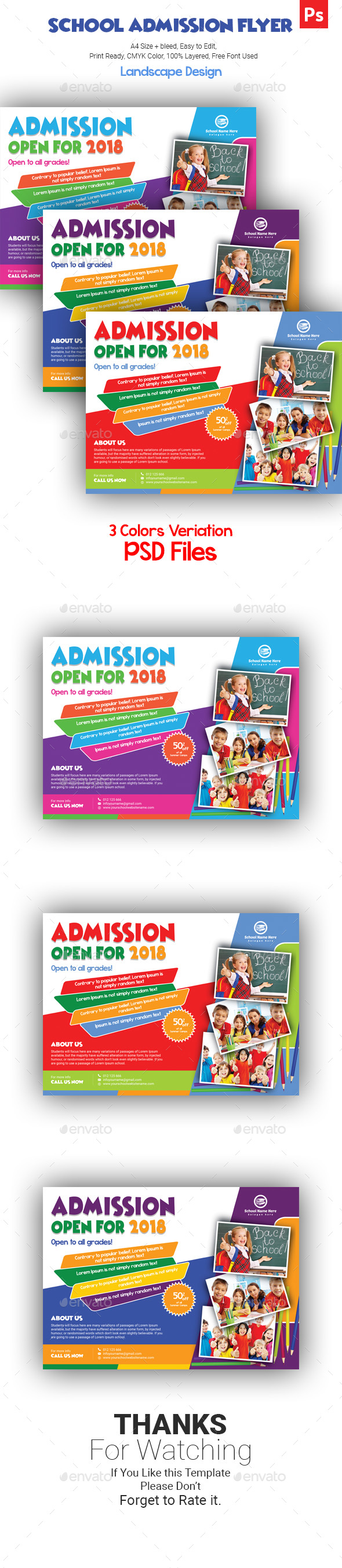 GraphicRiver School Flyer 21194958