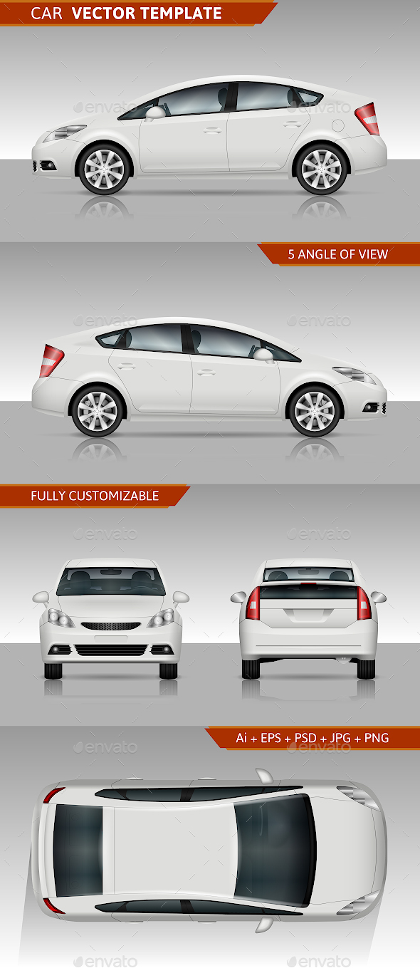 GraphicRiver White Car Vector Template 21195043