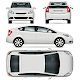 White Car Vector Template
