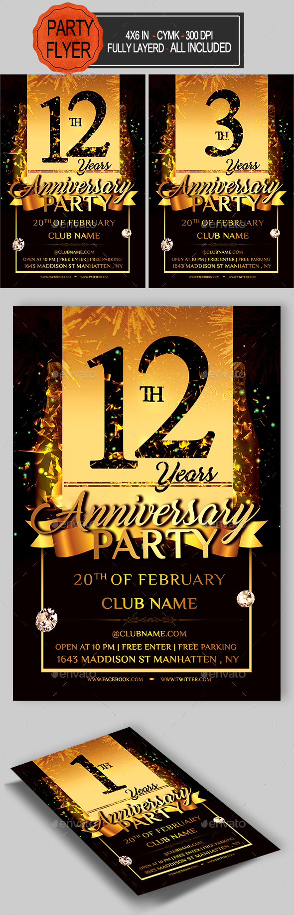 GraphicRiver Anniversary Flyer 21195068