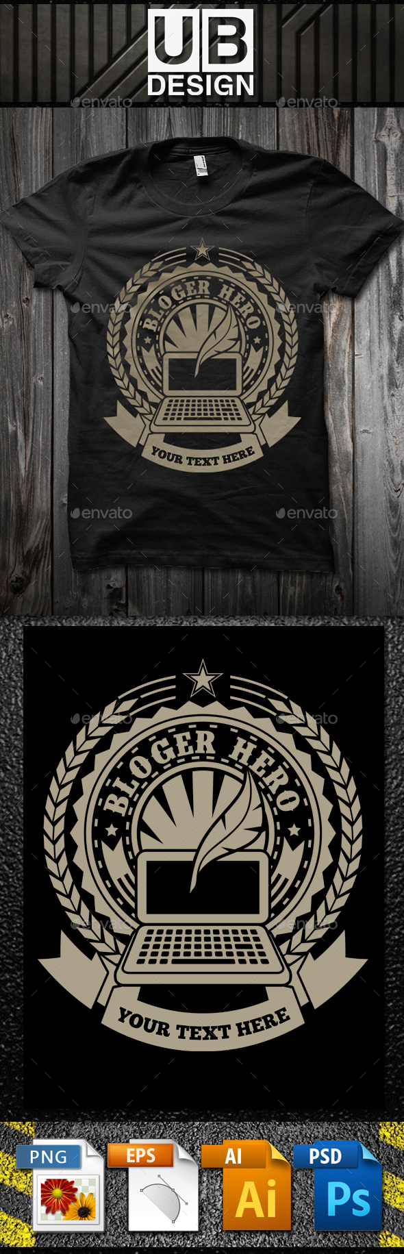 GraphicRiver Bloger Hero T-Shirt Template 21195091