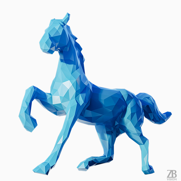 Lowpoly Horse 002 - 3DOcean Item for Sale