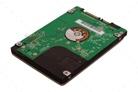 Notebook harddisk on a white background - Stock Photo - Images