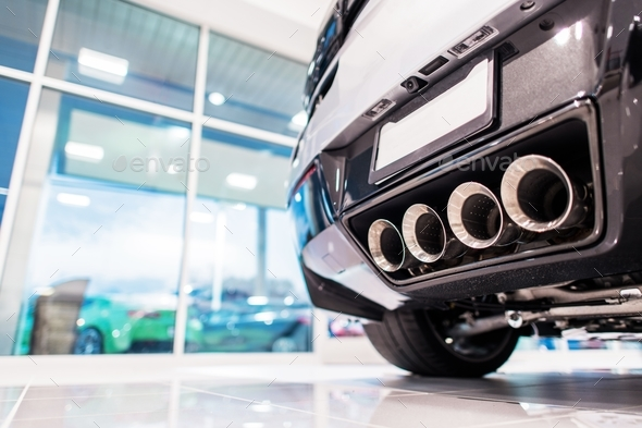 New Car in the Showroom - Stock Photo - Images