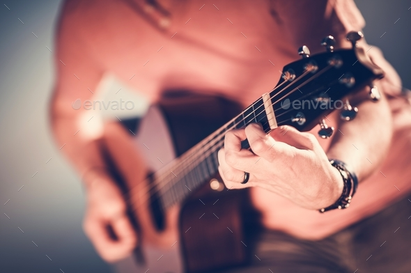 Acoustic Guitar Musician - Stock Photo - Images