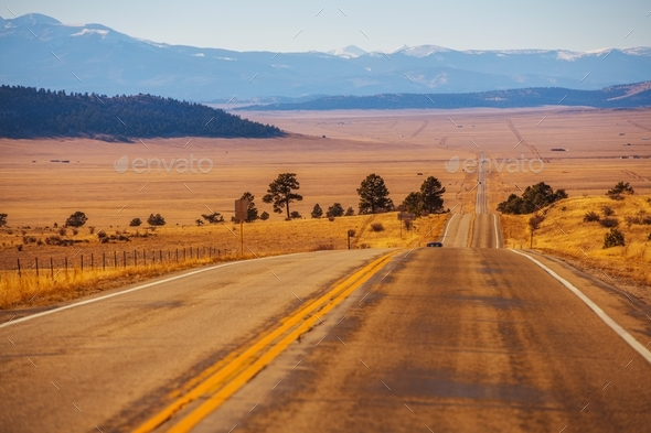 Colorado Countryside Highway - Stock Photo - Images