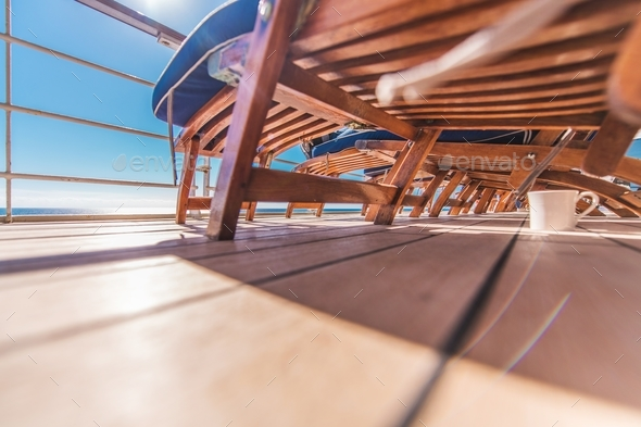 Cruise Ship Deckchairs - Stock Photo - Images
