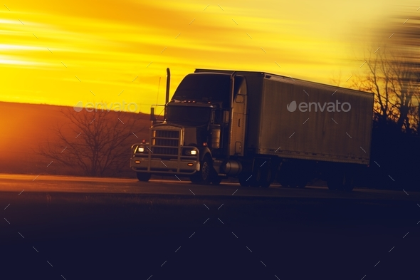 Truck Ground Shipping - Stock Photo - Images