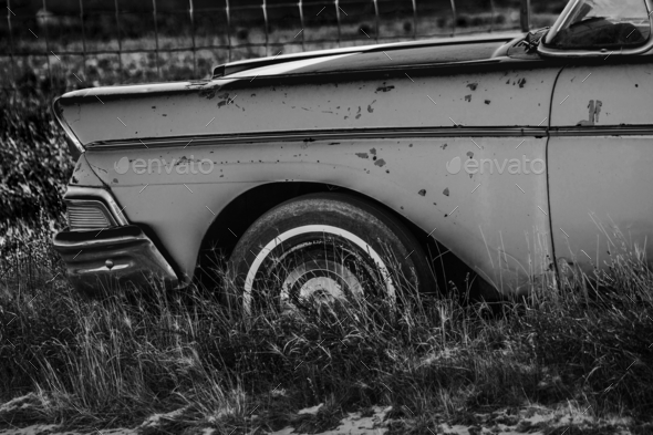 Abandoned Classic Car - Stock Photo - Images