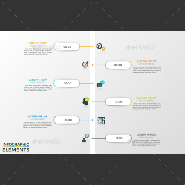 GraphicRiver Modern Vertical Infographic Timeline 21195283