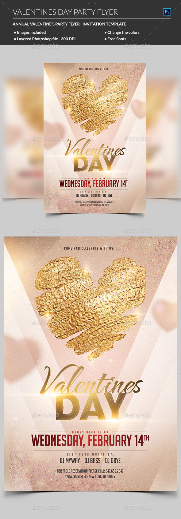 GraphicRiver Valentines Day Flyer 21195286