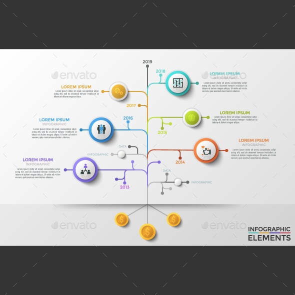 GraphicRiver Business Tree Timeline Infographics 21195359