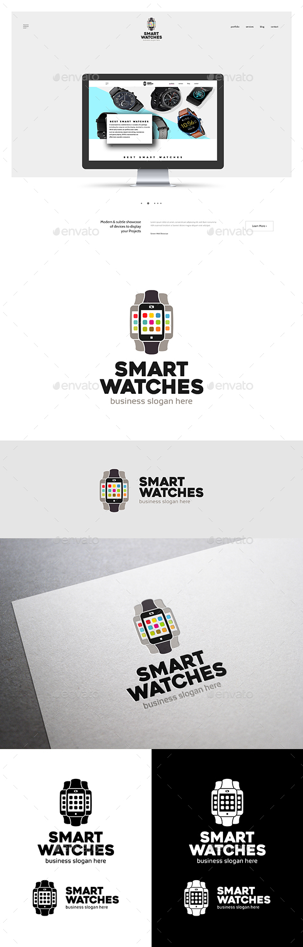 Smart Watches Logo - Objects Logo Templates