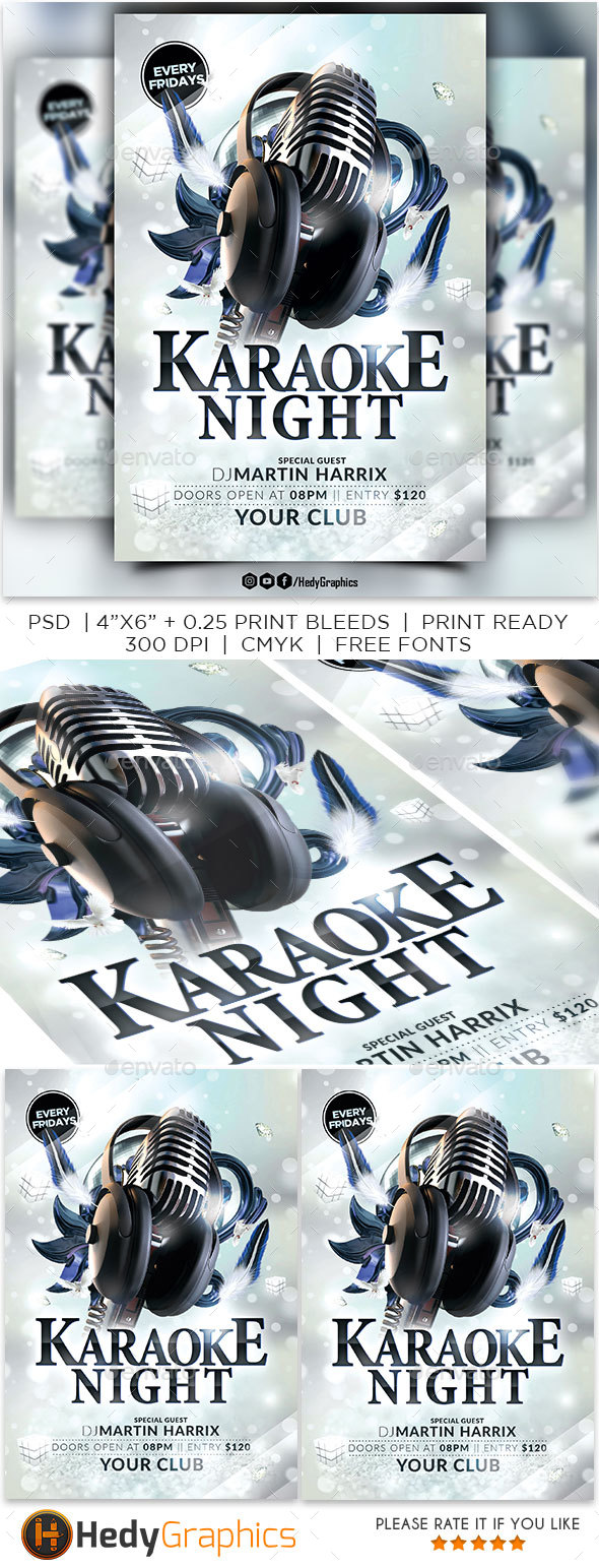 GraphicRiver Karaoke Night Flyer 21195640