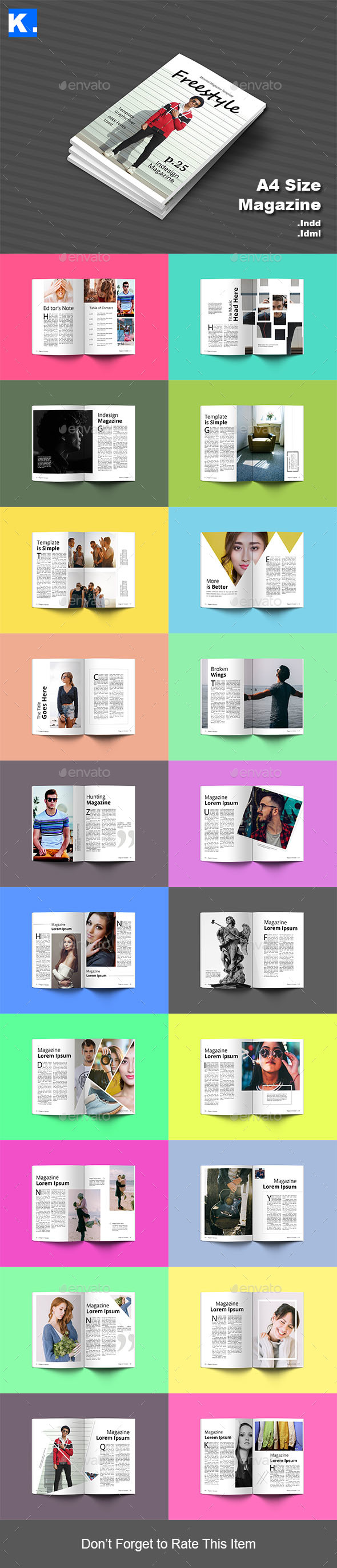 GraphicRiver Indesign Magazine Template 7 21195665