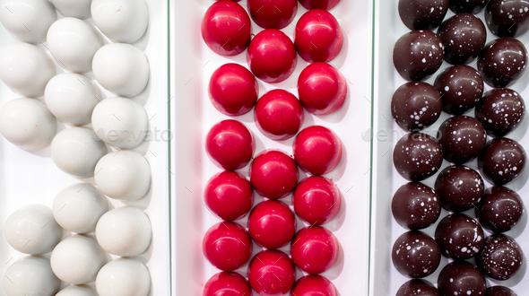 Chocolate Pralines - Stock Photo - Images