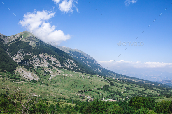 Mountain Peak Majella Abruzzo Italy - Stock Photo - Images