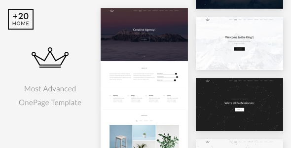 King - Creative Portfolio / Agency Onepage Template - Creative Site Templates