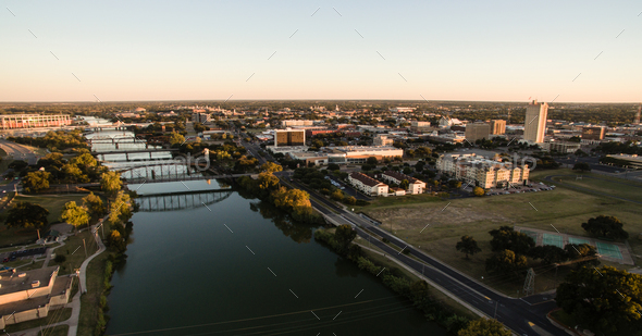 Downtown Waco Texas River Waterfront City Architecture - Stock Photo - Images