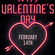Neon Valentines Day Flyer Template