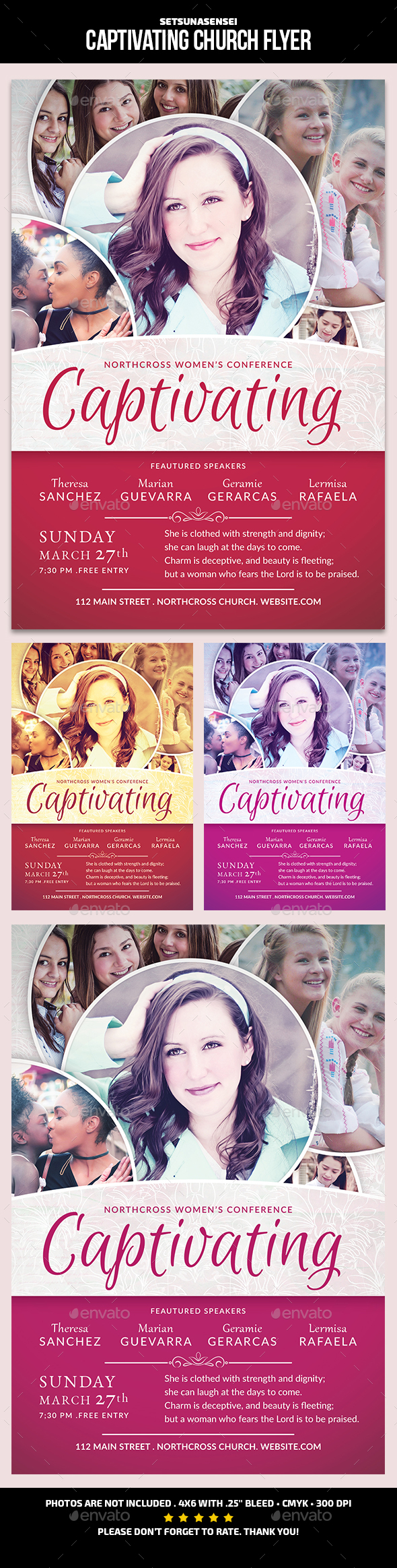 GraphicRiver Captivating Church Flyer 21195817