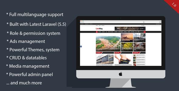 LaraMag - Laravel Magazine multilingual system - CodeCanyon Item for Sale