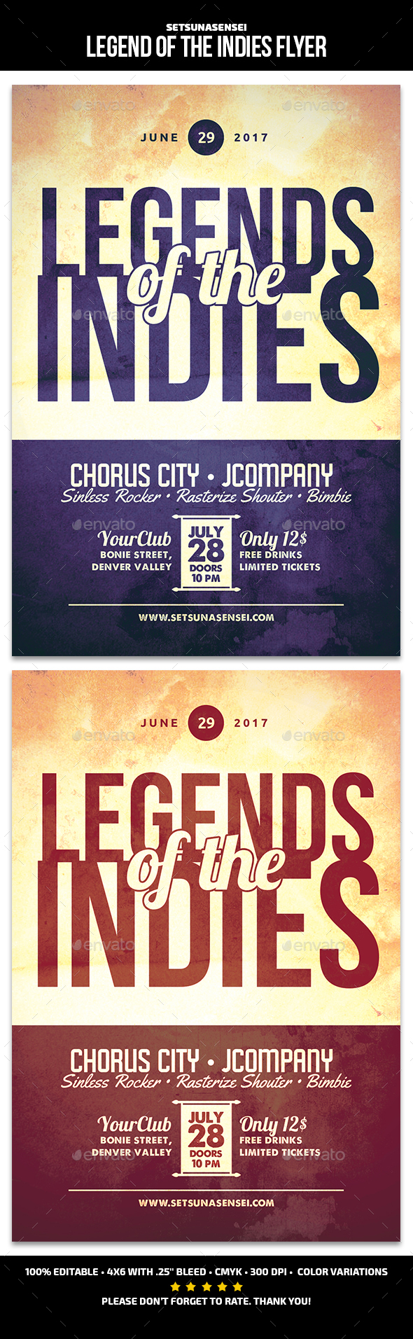 Legend of the Indies Flyer - Events Flyers
