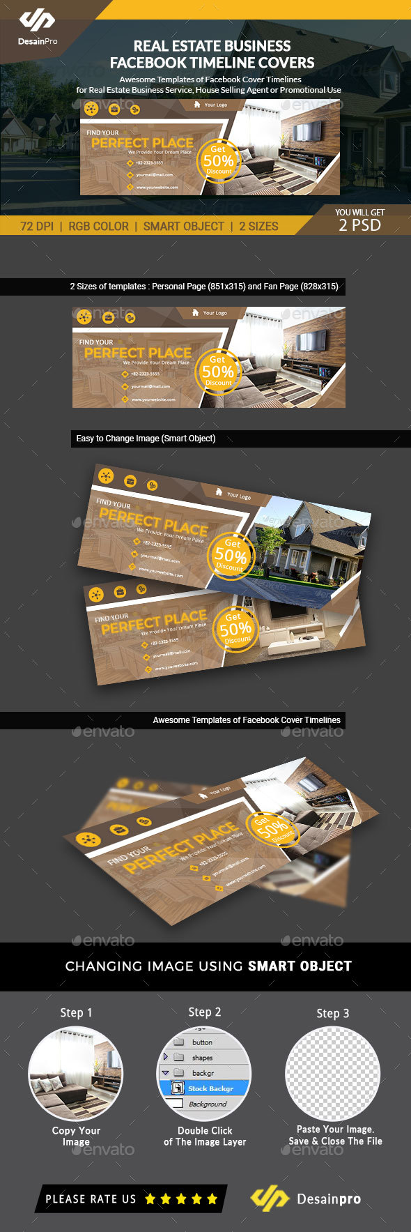 GraphicRiver Real Estate FB Cover Timeline Template AR 21195911
