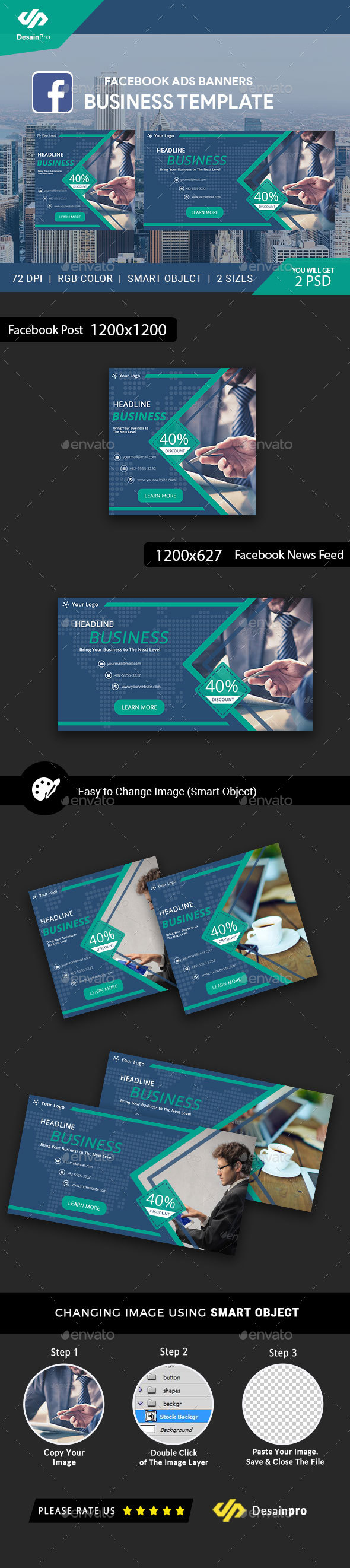 GraphicRiver Business Service Facebook Ads Banner AR 21195915