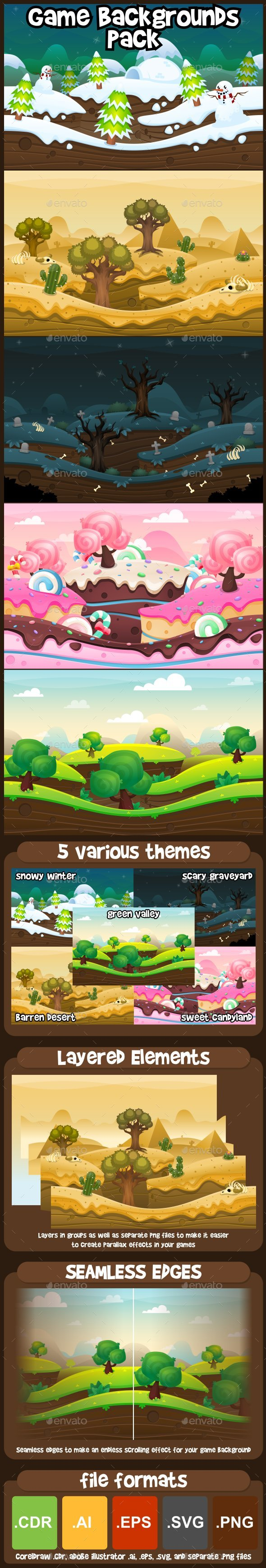 GraphicRiver Game Backgrounds Pack 21195927