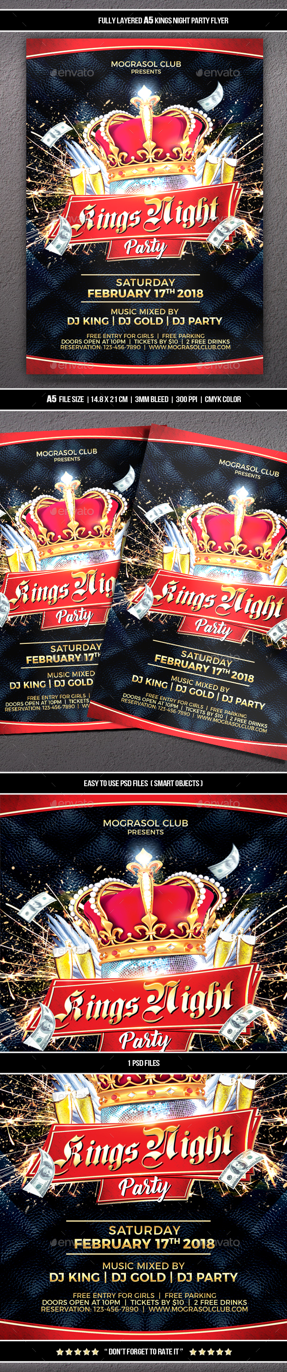 GraphicRiver Kings Night Party Flyer 21195951