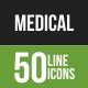 50 Medical Green & Black Line Icons