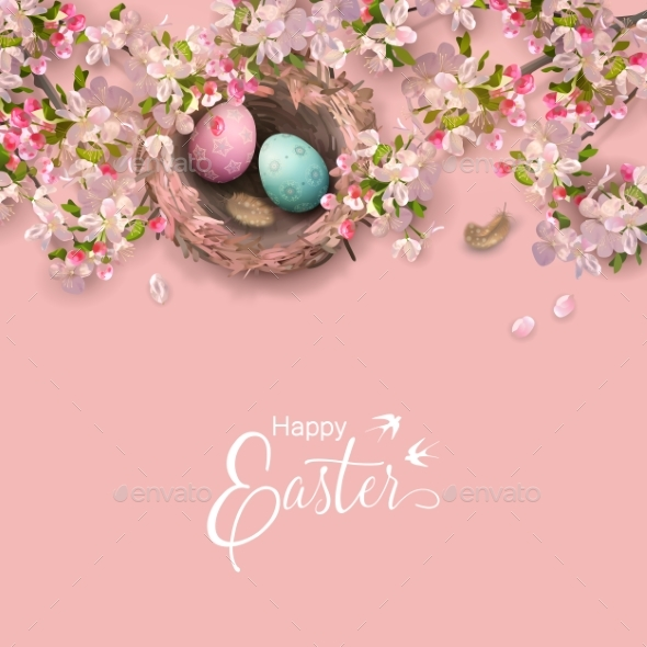 GraphicRiver Easter Holiday Background 21195988