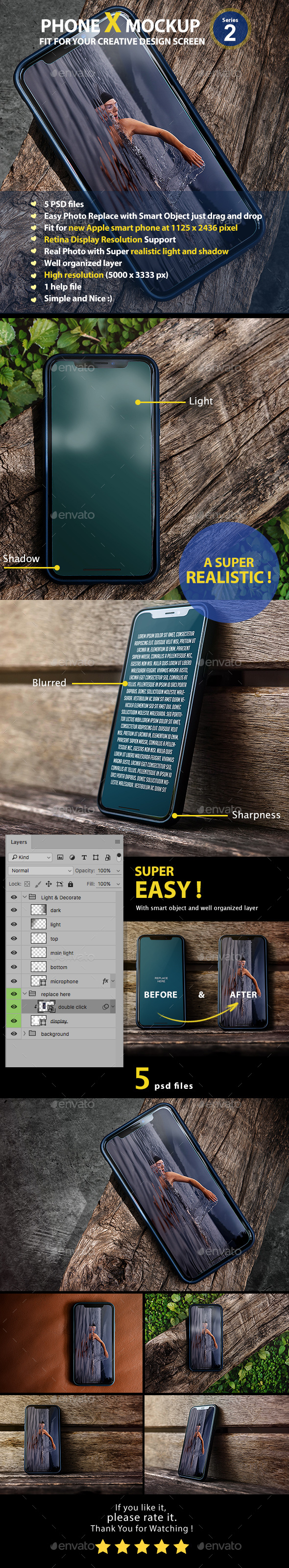 GraphicRiver PhoneX Mockup Series2 21196000