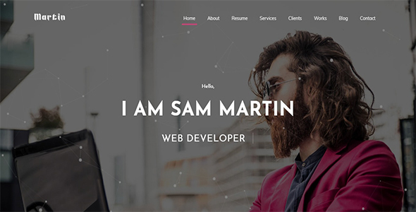 ThemeForest Sam Martin Creative Portfolio One Page 21196065